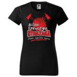 Jestem dziewczyną strażaka, czarna koszulka STRAŻACKA z nadrukiem