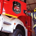 Naklejki na wóz strażacki, bojowy na drzwi komplet 2szt. 50cm