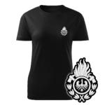 Damska czarna koszulka strażacka WZ01 Ognik OSP