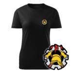 Damska czarna koszulka strażacka WZ09 WOP