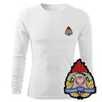 Biała koszulka strażacka długi rękaw WZ05 PSP PLT