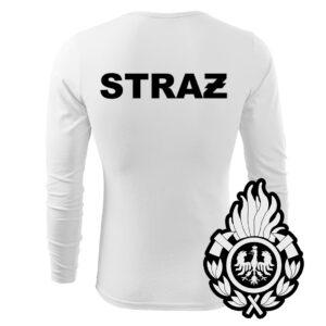 Biała koszulka strażacka długi rękaw WZ01 Ognik  PLT