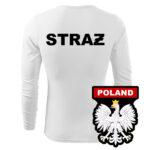 Biała koszulka strażacka długi rękaw WZ06 Orzeł PL  PLT