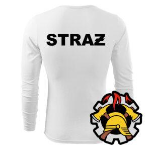 Biała koszulka strażacka długi rękaw WZ09 WSP PLT