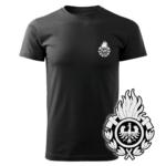 Czarna koszulka strażacka WZ01 Ognik OSP PLT