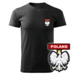 Czarna koszulka strażacka WZ06 Orzeł Polska PLT