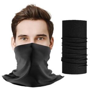 Komin ochronny, wielofunkcyjny czarny bez logo, szalokomin, chusta