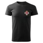 Czarna koszulka strażacka WZ02 Krzyż Związkowy OSP PLT