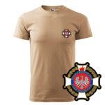 Piaskowa koszulka Straż Pożarna, WZÓR 02 – Krzyż Związkowy OSP