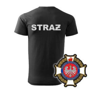 Czarna koszulka Straż Pożarna WZÓR 02 – Krzyż Związkowy OSP