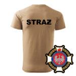 Piaskowa koszulka strażacka WZ02 Krzyż Związkowy OSP