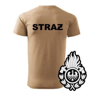 Piaskowa koszulka Straż Pożarna, WZÓR 01 – Ognik OSP