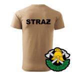 Piaskowa koszulka strażacka WZ03 Toporki i Hełm