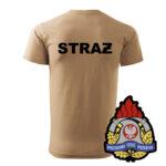 Piaskowa koszulka Straż Pożarna, WZÓR 05 – Państwowa Straż Pożarna