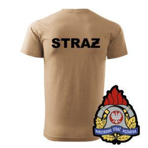 Piaskowa koszulka strażacka WZ05 Państwowa Straż Pożarna