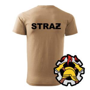 Piaskowa koszulka Straż Pożarna, WZÓR 09 – Wojskowa Ochrona Przeciwpożarowa