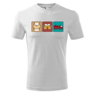 Strażak Trylogia, biała koszulka STRAŻACKA z nadrukiem STR017