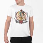Strażak OCHOTNIK, biała koszulka STRAŻACKA z nadrukiem STR016