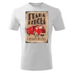 Męska biała koszulka STRAŻACKA z nadrukiem prezent dla strażaka DTG021