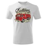 Męska biała koszulka STRAŻACKA z nadrukiem prezent dla strażaka DTG022