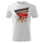 Męska biała koszulka STRAŻACKA z nadrukiem na prezent DTG023