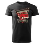 Męska czarna koszulka STRAŻACKA z nadrukiem na prezent DTG023
