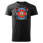 Męska czarna koszulka STRAŻACKA z nadrukiem prezent dla strażaka STR0030 DTG
