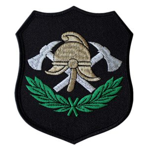 Emblemat naramienny, naszywka na mundur Straż Hełm i Toporki OSP WZ03