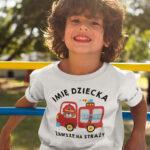 Zawsze na straży, biała koszulka dziecięca STR040 DTG