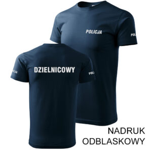 DZIELNICOWY koszulka policyjna odblaskowa PLT
