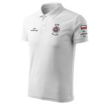 Biała koszulka strażacka polo WZ02 Krzyż OSP