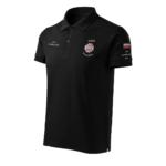 Czarna koszulka strażacka polo HAFT-DRUK WZ02 Krzyż Związkowy