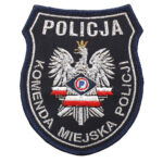 Naszywka naramienna Policja Komenda Miejska Policji IND