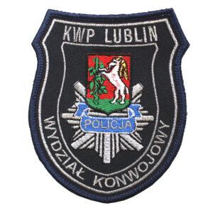 Lublin – Naszywka Policja – KWP Lublin Wydział Konwojowy NPO1082 IND