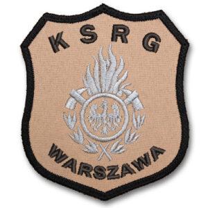 Piaskowy emblemat naramienny, naszywka na mundur Straż OSP ognik WZ01