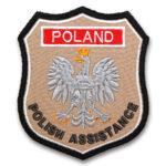 Piaskowy emblemat naramienny, naszywka na mundur Straż OSP Orzeł Polski POLAND WZ06