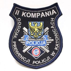 Katowice – Naszywka Policja II Kompania Oddział Prewencji Policji w Katowicach NPO1057 IND