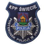 Dragacz – Naszywka Policja KPP Świecie Posterunek Policji w Dragaczu NPO1025 IND
