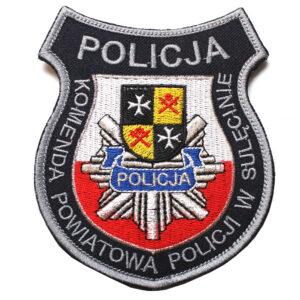 Sulęcin – Naszywka Policja Komenda Powiatowa Policji w Sulęcinie NPO1013 IND