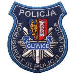 Gliwice – Naszywka Policja Komisariat III Policji Gliwice NPO1014 IND