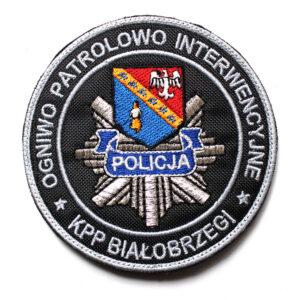 Białobrzegi – Naszywka Policja Ogniwo Patrolowo Interwencyjne KPP Białobrzegi NPO1010 IND