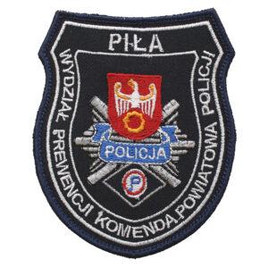 Piła – naszywka policja KPP Piła Wydział Prewencji Komenda Powiatowa Policji NPO1039 IND