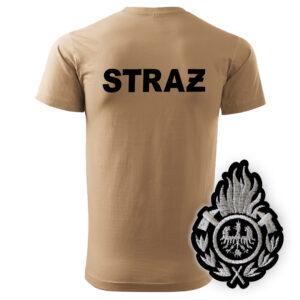 Piaskowa koszulka strażacka HAFT-DRUK WZ01 Ognik OSP