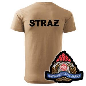 Piaskowa koszulka strażacka HAFT-DRUK WZ05 PSP