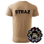 Piaskowa koszulka strażacka HAFT-DRUK WZ09 WOP