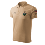 Piaskowa koszulka strażacka polo WZ03 Toporki i Hełm