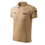 Piaskowa koszulka strażacka polo WZ16 napis STRAŻ
