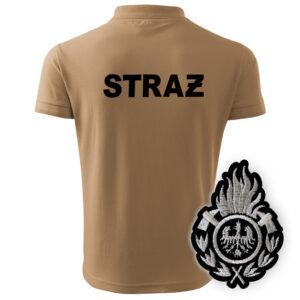 Piaskowa koszulka strażacka polo WZ01 Ognik OSP