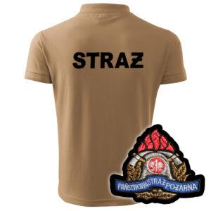 Piaskowa koszulka strażacka polo WZ05 PSP