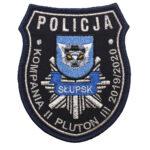 Słupsk – Naszywka Policja Kompania II Pluton III 20192020 NPO1091 IND